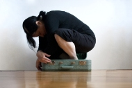 Nicole Panneton - Dans la valise 1 - Action performative en atelier - Valise - Autre espace temps - 2014