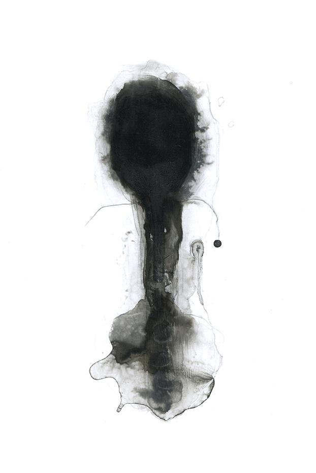 Nicole Panneton - Axe - Dessin - Encre et graphite - 2014