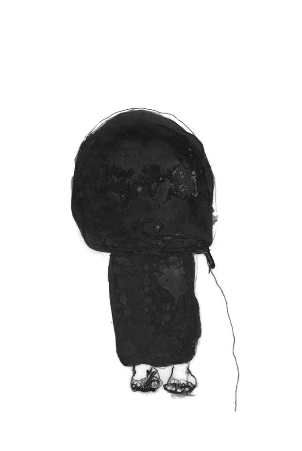 Dessin de Nicole Panneton - À l'aveugle - Graphite et feutre - Cahier de croquis - 2012