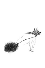Dessin de Nicole Panneton - Porter son fardeau - Graphite et feutre - Cahier de croquis - 2012