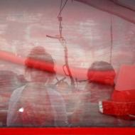 Nicole Panneton - Notre image reflétée - Photographie numérique - Voyage dans Charlevoix - Traversier - Isabelle et moi - Été 2012