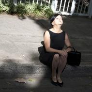 Nicole Panneton - Faire sens - Performance déambuloire - Fluid States événement international - Groupe organisé par KG Guttman, Victoria Stanton et Sylvie Tourangeau - Crédit photographique Julie Laurin - 2014