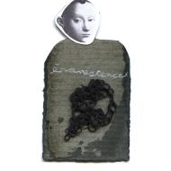 Nicole Panneton - Évanescence - Série L'inconnue - No 10 - Collage, encre sur papier et fil crocheté - 2014
