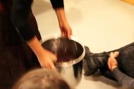 Nicole Panneton - De nature insolite - Performance - ORANGE - Les viscéraux une esthétique de l'appétence - La Pocatière - 2015 - Crédit photographique Mariane Stratis
