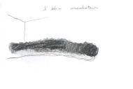 Nicole Panneton - Taire ce qui ne peut être dévoilé - L'Écrin - L'imprimerie centre d'artistes - L'écrin incubateur - Dessin du 7 juin 2018 réalisé par Nicole Panneton - Crédit photo Nicole Panneton