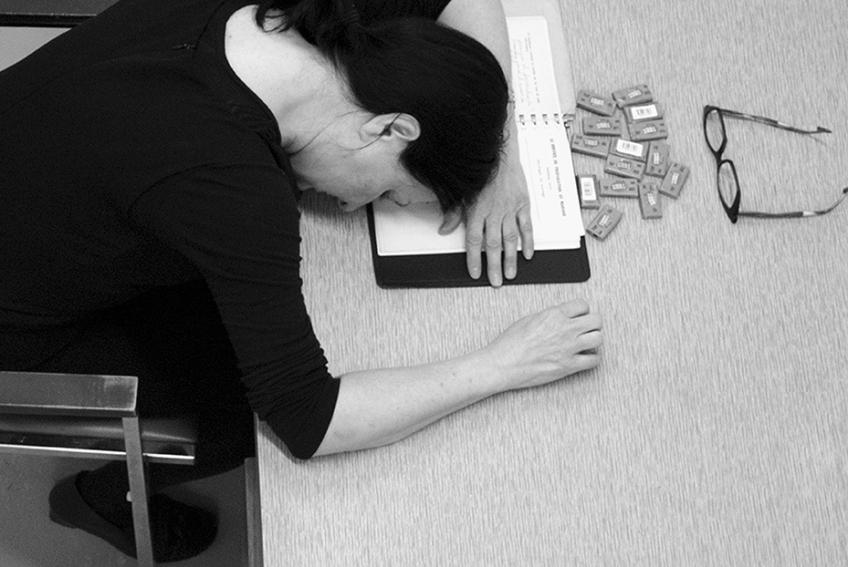 Nicole Panneton - Mâcher le stress au quotidien - Attendre que le mal passe - Action performative - 2015
