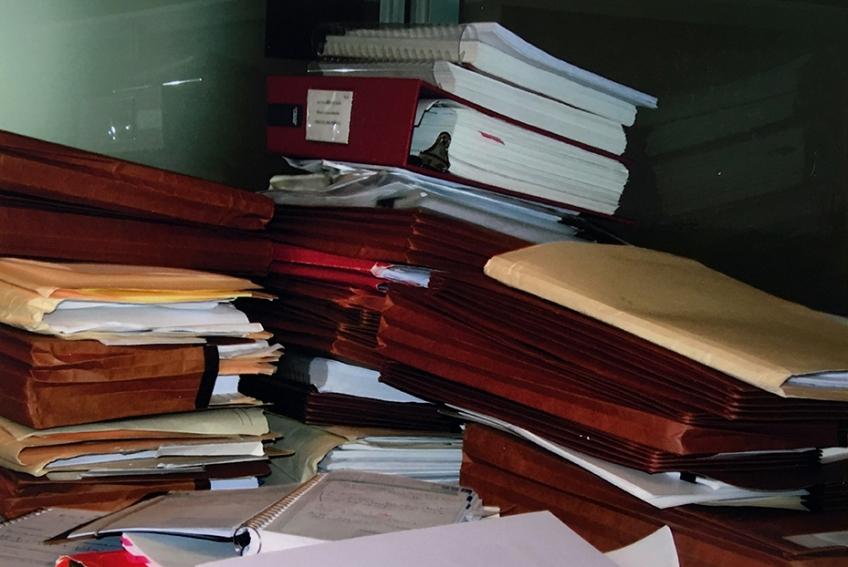 Nicole Panneton - Mâcher le stress au quotidien - Côté gauche de mon cubicule - Photographie - 2011