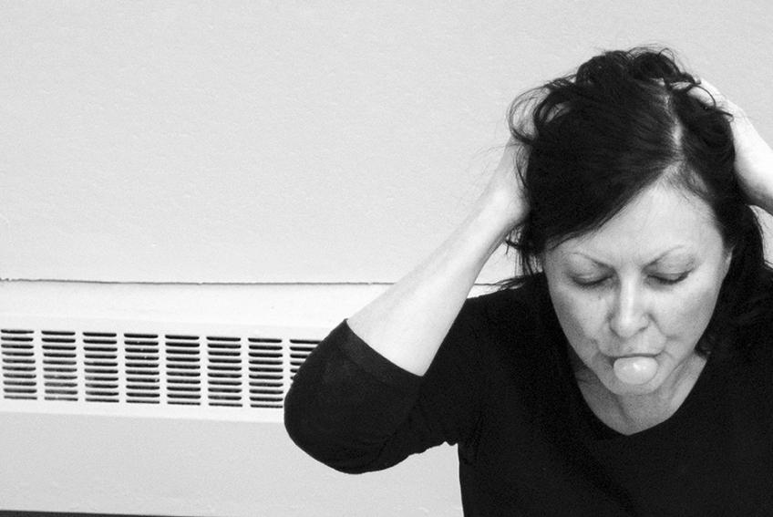 Nicole Panneton - Mâcher le stress au quotidien - Le plaisir de faire une bulle - Action performative - 2015
